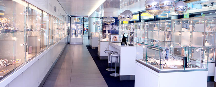 GASSAN Plaza shop interior Amsterdam Airport Schiphol